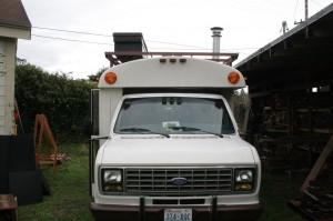 Little Cod Wood Stove Bus Building Free Tea Party