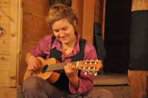 Barbara (who biked and sailed from Austria) plays a sweet love song.