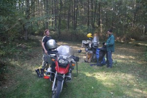 My college buddies Colin and Jared showed up on a cross country motorcycle trip.
