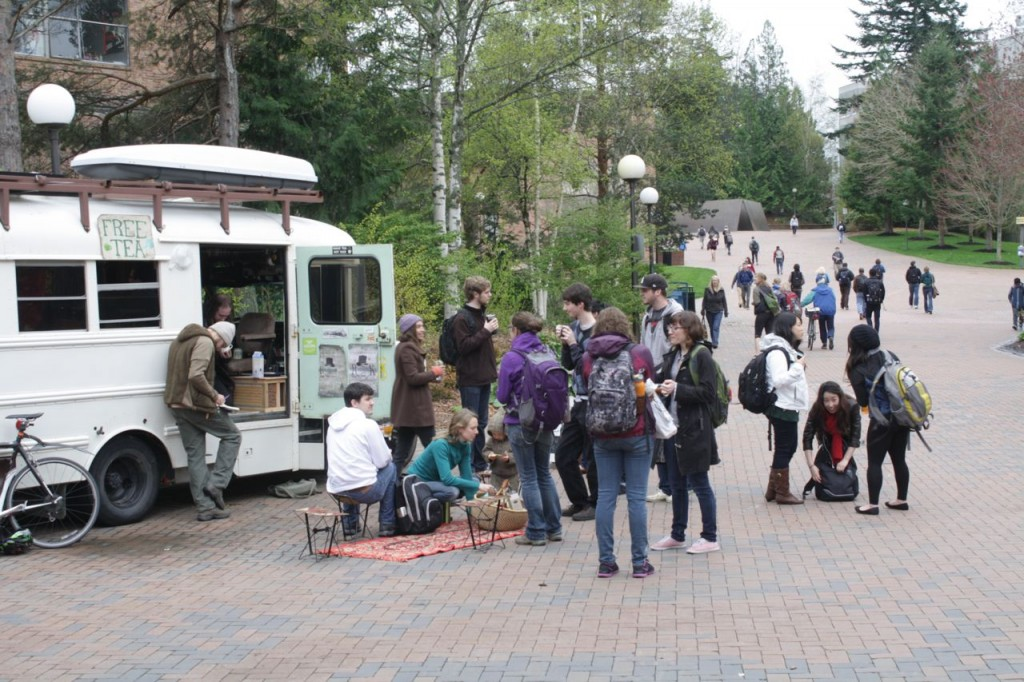 Western Washington University's students loved the tea bus!
