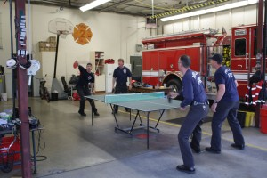 Fiery ping pong tournament - your tax dollars at work!