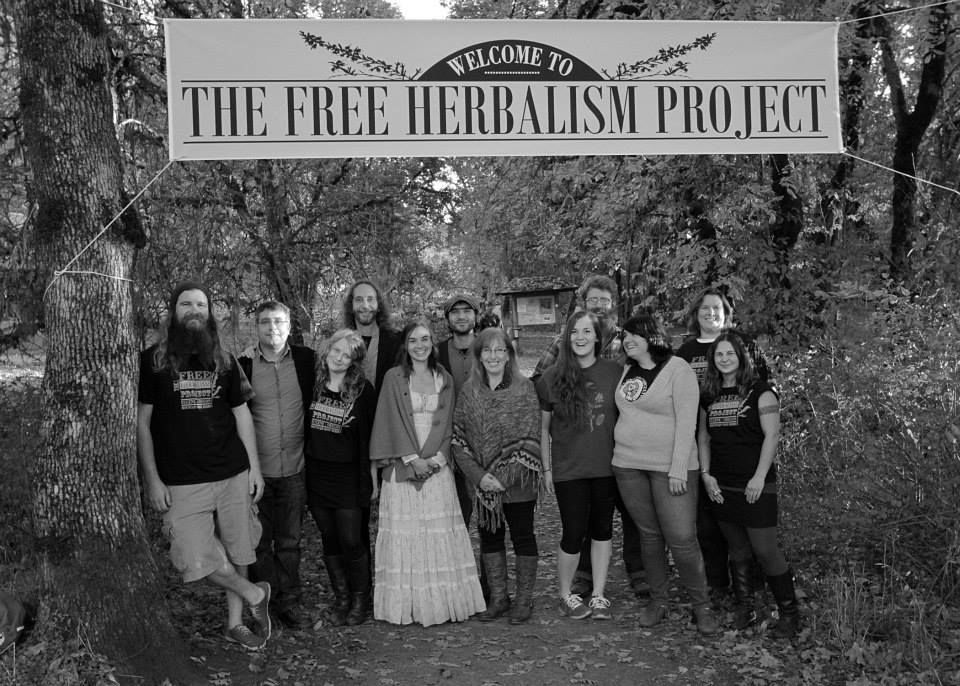 The whole Free Herbalism Crew (Mountain Rose folk, Steven and Howie, Free Tea Party folk)