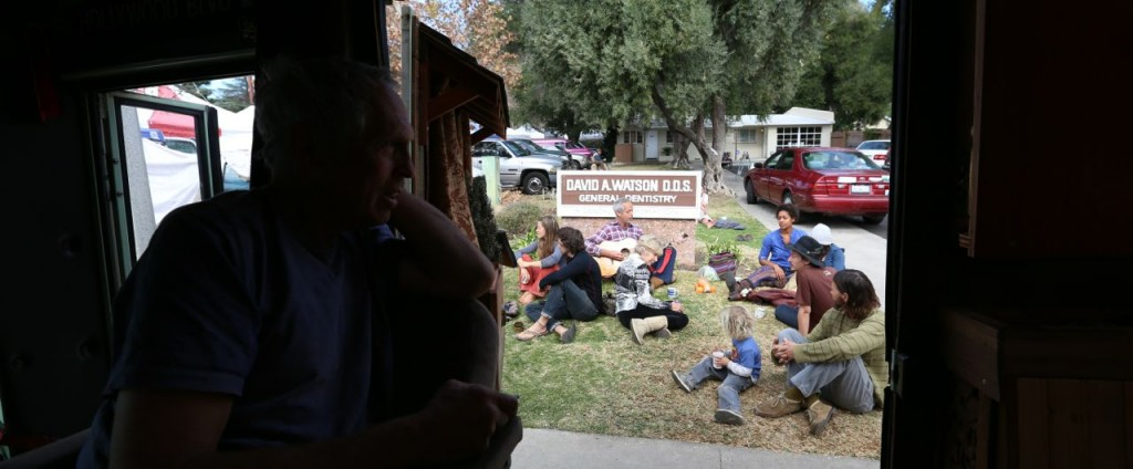 A guests enjoys the view from Edna during the Ojai Farmers' Market.