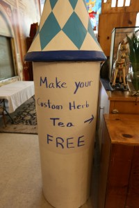 Rob's free make-your-own tea station.
