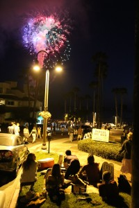 The fireworks in San Clemente