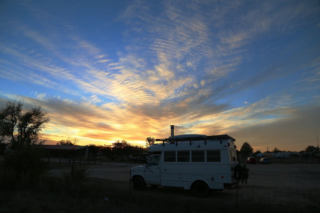 Sunset at El Cosmico.