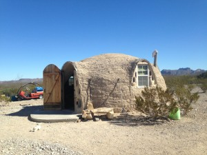 Trevor's cob dome.
