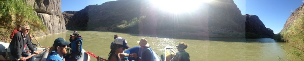 Rafting on the Rio Grande.
