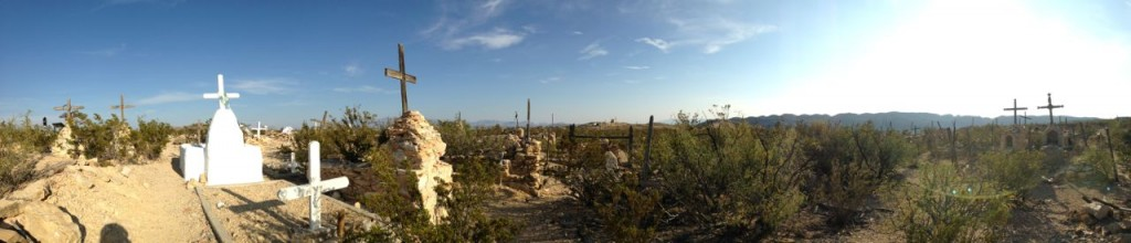 The Terlingua host town cemetary.