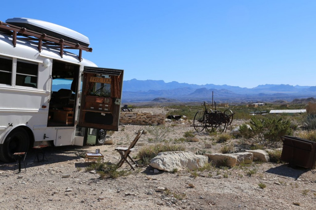 Edna in the heart of the ghost town of Terlingua.