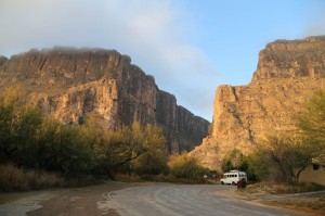 Santa Elena Canyon at sunrise.