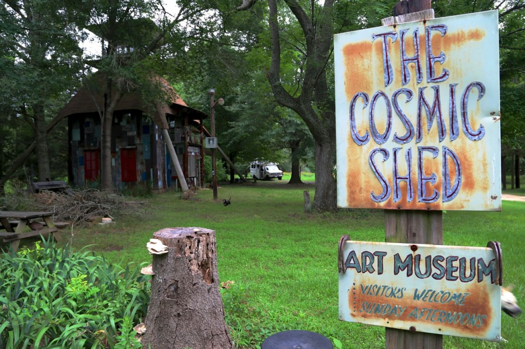 The Cosmic Shed in East Texas.