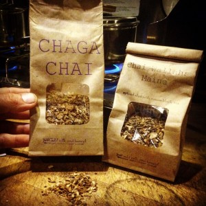 A Chaga chai donation from Chai Wallahs of Maine.