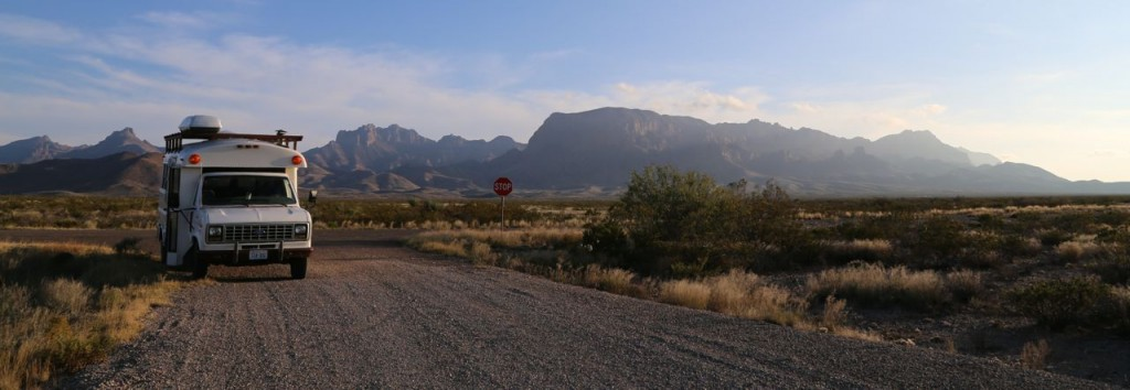 Edna survives the mountains and deserts of Big Bend National Park.