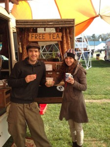 Guisepi and Ally serving up Isla Botanica tea.