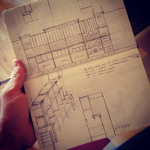 The design sketch for the bulk section (photo:@doaklander)