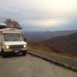 Edna on the Blue Ridge Parkway on her way towards Floyd.