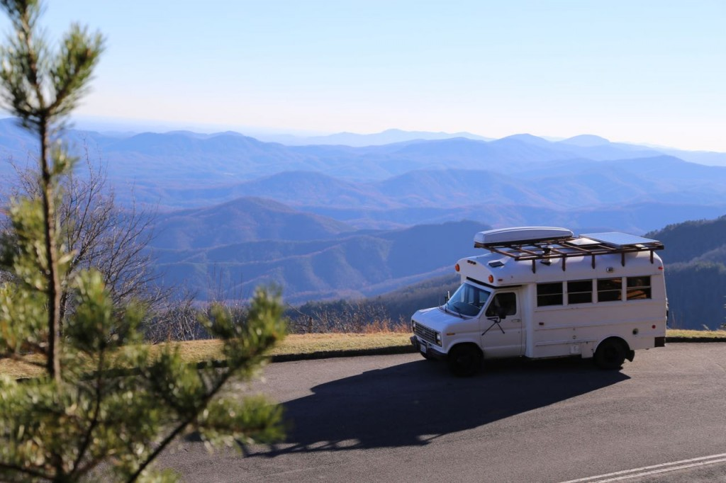 Edna basks in the sun along the Blue Ridge Parkway in North Carolina.