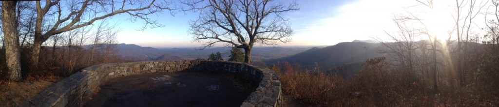 Scene from the Blue Ridge Parkway in NC.