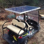 Solar powered golf cart.