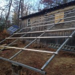 The frame for the new solar array at Trail Carolina.