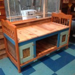 The day bed Cricket and I built in her studio from 99% salvaged materials.