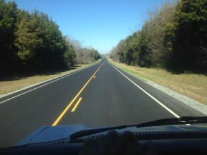 Cruising back highways in Alabama.