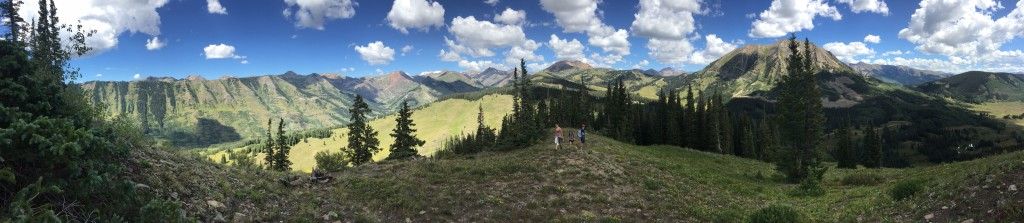 Atop the mountains outside Crested Butte
