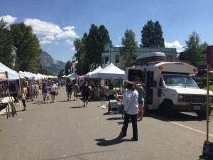 Serving tea t the Crested Butte Farmers' Market
